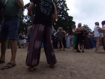Screencap of YouTube video Balfolk at Castlefest 2018