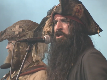 Screencap of YouTube video Ye Banished Privateers at Castlefest 2019