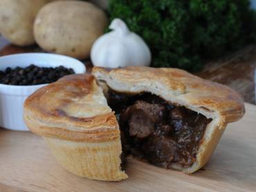 small english pie, ingredients in the background